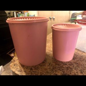 Tupperware Canisters Vintage